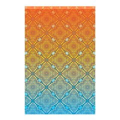 Ombre Fire And Water Pattern Shower Curtain 48  X 72  (small)  by TanyaDraws