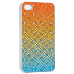 Ombre Fire And Water Pattern Apple Iphone 4/4s Seamless Case (white) by TanyaDraws
