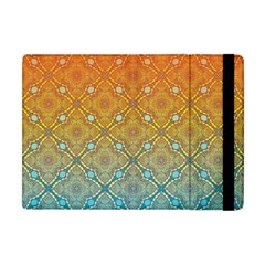 Ombre Fire And Water Pattern Apple Ipad Mini Flip Case by TanyaDraws