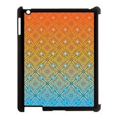 Ombre Fire And Water Pattern Apple Ipad 3/4 Case (black) by TanyaDraws