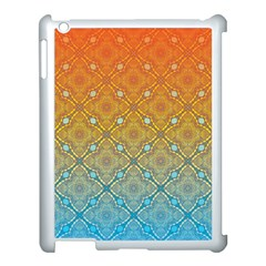 Ombre Fire And Water Pattern Apple Ipad 3/4 Case (white) by TanyaDraws