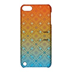 Ombre Fire And Water Pattern Apple Ipod Touch 5 Hardshell Case With Stand by TanyaDraws