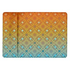 Ombre Fire And Water Pattern Samsung Galaxy Tab 10 1  P7500 Flip Case by TanyaDraws