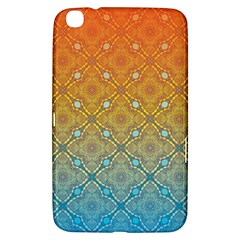 Ombre Fire And Water Pattern Samsung Galaxy Tab 3 (8 ) T3100 Hardshell Case  by TanyaDraws