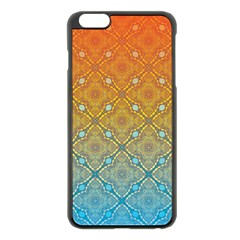 Ombre Fire And Water Pattern Apple Iphone 6 Plus/6s Plus Black Enamel Case by TanyaDraws