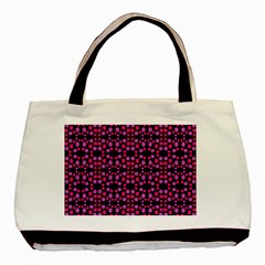 Dots Pattern Pink Basic Tote Bag by BrightVibesDesign