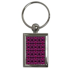 Dots Pattern Pink Key Chains (rectangle)  by BrightVibesDesign