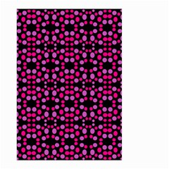 Dots Pattern Pink Small Garden Flag (two Sides) by BrightVibesDesign