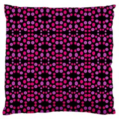 Dots Pattern Pink Standard Flano Cushion Case (two Sides) by BrightVibesDesign