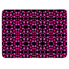 Dots Pattern Pink Samsung Galaxy Tab 7  P1000 Flip Case by BrightVibesDesign