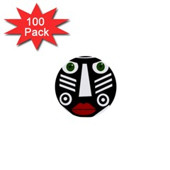 African Mask 1  Mini Buttons (100 Pack)  by Valentinaart