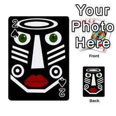 African Mask Playing Cards 54 Designs  by Valentinaart