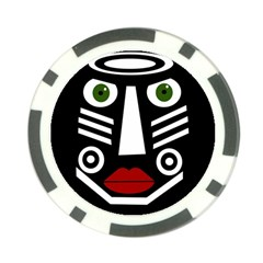 African Mask Poker Chip Card Guards (10 Pack)  by Valentinaart