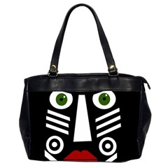 African Mask Office Handbags (2 Sides)  by Valentinaart