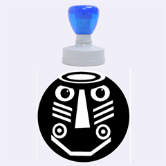 African Mask Rubber Round Stamps (large)