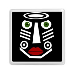 African Mask Memory Card Reader (square)  by Valentinaart