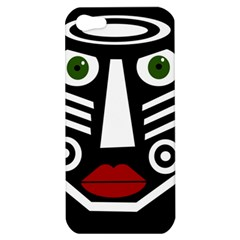 African Mask Apple Iphone 5 Hardshell Case by Valentinaart