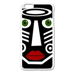 African Mask Apple Iphone 6 Plus/6s Plus Enamel White Case by Valentinaart