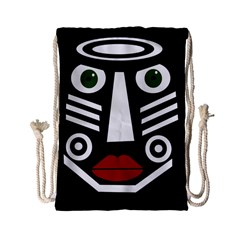 African Mask Drawstring Bag (small) by Valentinaart