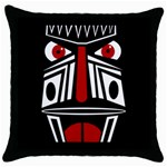 African red mask Throw Pillow Case (Black) Front