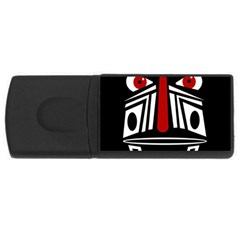 African Red Mask Usb Flash Drive Rectangular (4 Gb)  by Valentinaart