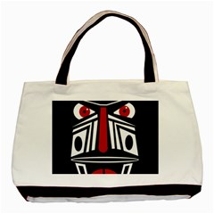African Red Mask Basic Tote Bag (two Sides) by Valentinaart