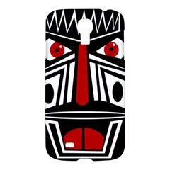 African Red Mask Samsung Galaxy S4 I9500/i9505 Hardshell Case by Valentinaart