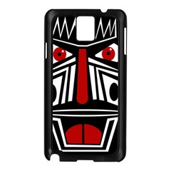 African Red Mask Samsung Galaxy Note 3 N9005 Case (black) by Valentinaart
