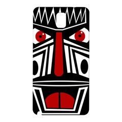 African Red Mask Samsung Galaxy Note 3 N9005 Hardshell Back Case by Valentinaart