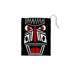 African Red Mask Drawstring Pouches (xs)