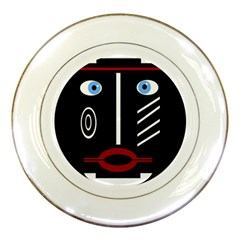 Decorative Mask Porcelain Plates by Valentinaart