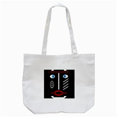 Decorative Mask Tote Bag (white) by Valentinaart