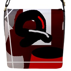 Crazy Abstraction Flap Messenger Bag (s)