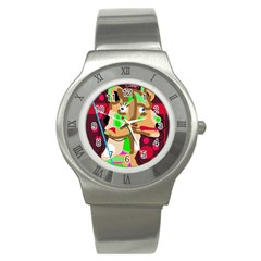 Abstract Animal Stainless Steel Watch by Valentinaart