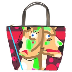 Abstract Animal Bucket Bags