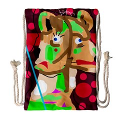 Abstract Animal Drawstring Bag (large) by Valentinaart