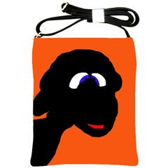 Black Sheep Shoulder Sling Bags by Valentinaart