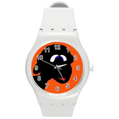 Black Sheep Round Plastic Sport Watch (m) by Valentinaart