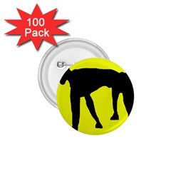Black Dog 1 75  Buttons (100 Pack)  by Valentinaart