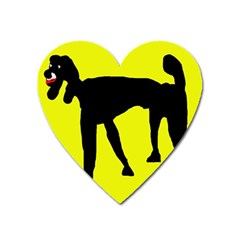 Black Dog Heart Magnet by Valentinaart