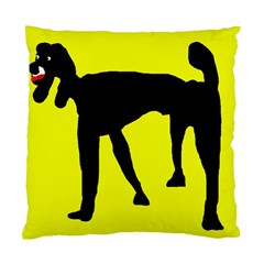 Black Dog Standard Cushion Case (two Sides) by Valentinaart
