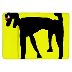 Black Dog Samsung Galaxy Tab 8 9  P7300 Flip Case by Valentinaart