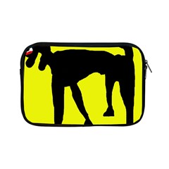 Black Dog Apple Ipad Mini Zipper Cases by Valentinaart