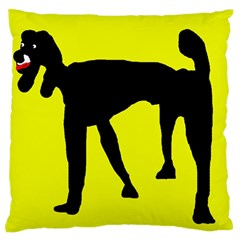 Black Dog Standard Flano Cushion Case (two Sides) by Valentinaart