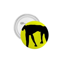 Black Dog 1 75  Buttons by Valentinaart