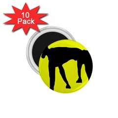 Black Dog 1 75  Magnets (10 Pack)  by Valentinaart