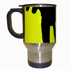Black Dog Travel Mugs (white) by Valentinaart