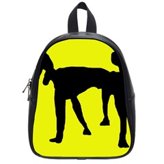 Black Dog School Bags (small)  by Valentinaart