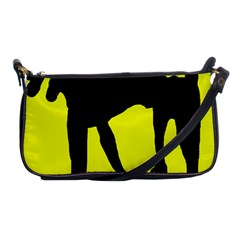 Black Dog Shoulder Clutch Bags by Valentinaart