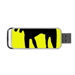 Black Dog Portable Usb Flash (two Sides) by Valentinaart
